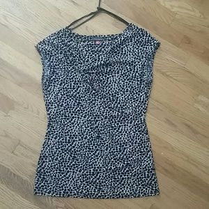 Vince Camuto leopard print blouse size small